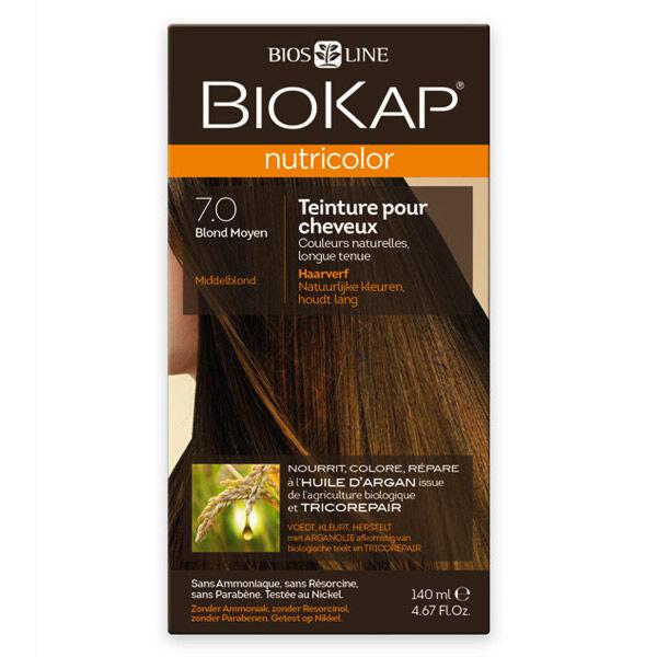 Biokap Nutricolor Teinture pour Cheveux 7.0 Blond Moyen 140ml