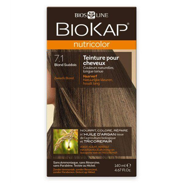 Biokap Nutricolor Teinture pour Cheveux 7.1 Blond Suédois 140ml