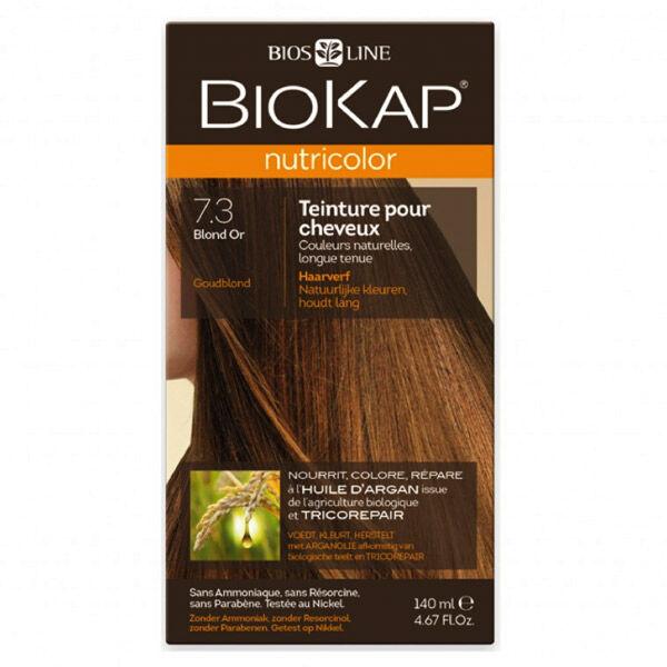 Biokap Nutricolor Teinture pour Cheveux 7.3 Blond Or 140ml