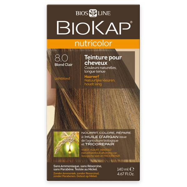 Biokap Nutricolor Teinture pour Cheveux 8.0 Blond Clair 140ml