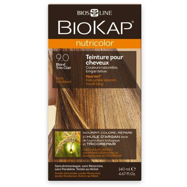 Biokap Nutricolor Teinture pour Cheveux 9.0 Blond Très Clair 140ml