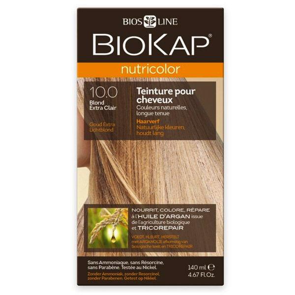 Biokap Nutricolor Teinture pour Cheveux 10.0 Blond Extra Clair 140ml