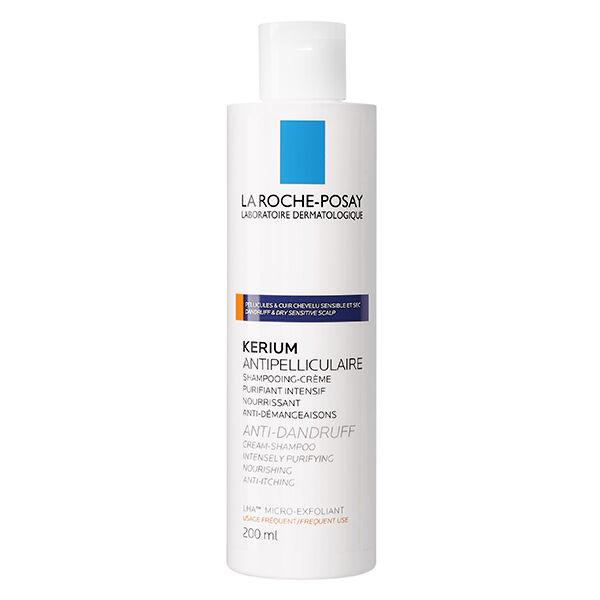 La Roche Posay Kerium Shampoing Antipelliculaire Cheveux Secs 200ml