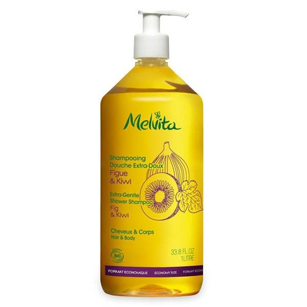 Melvita Les Essentiels Shampooing Douche Extra-Doux Bio 1L