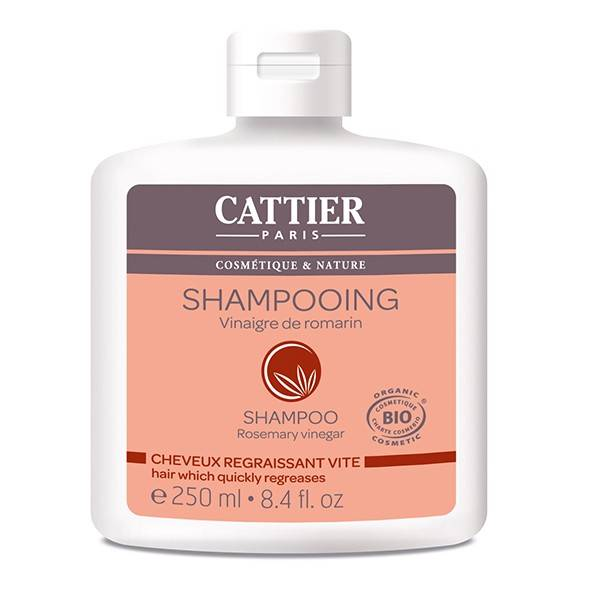 Cattier Shampooing Vinaigre de Romarin Cheveux Regraissant Vite 250ml