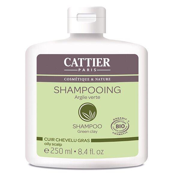 Cattier Shampooing Argile Verte Cuir Chevelu Gras 250ml