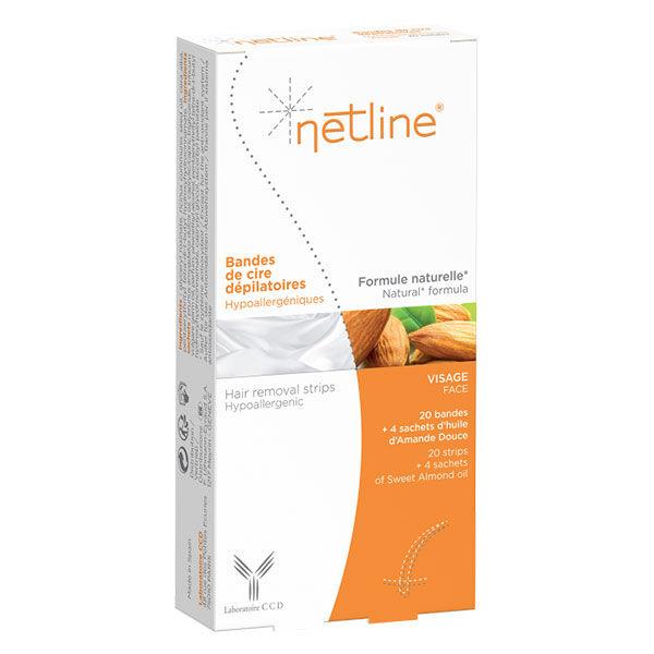 Netline Bande de Cire Dépilatoire Visage 20 unités