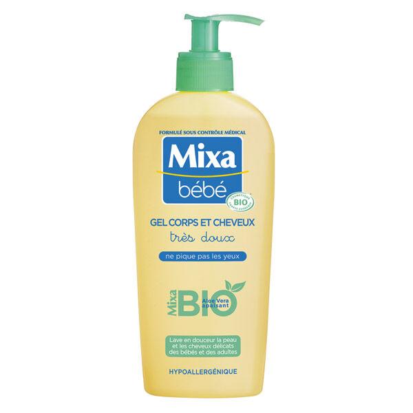 Mixa Bébé Gel Corps et Cheveux Très Doux Bio 250ml