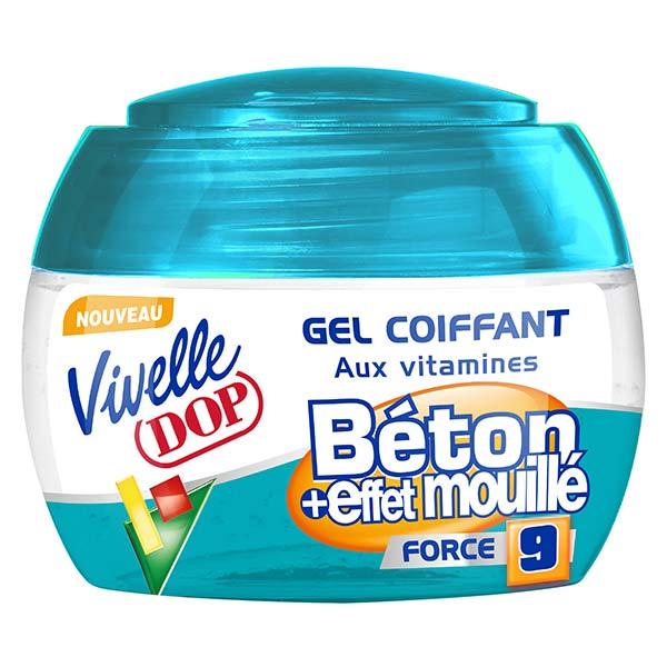 Dop Vivelle Dop Gel Coiffant aux Vitamines Fixation Béton et Effet Mouillé Force 9 150ml