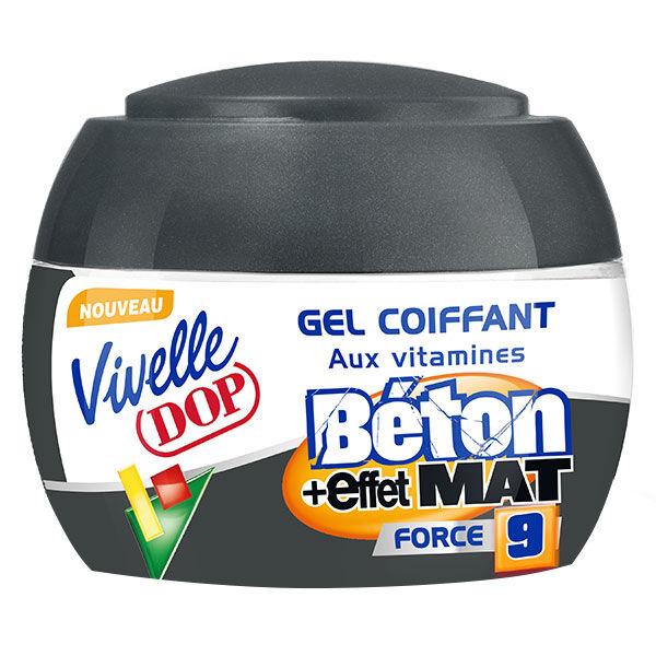 Dop Vivelle Dop Gel Coiffant aux Vitamines Fixation Béton Effet Mat Force 9 150ml