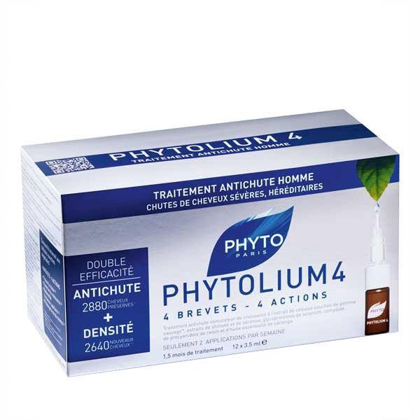 Phyto Phytolium 4 Traitement Anti-Chute Stimulateur Croissance Homme 12 x 3.5ml