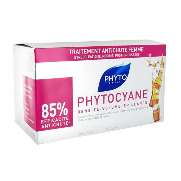 Phytocyane Traitement Phyto Anti-Chute Redensifiant 12 ampoules 7,5ml