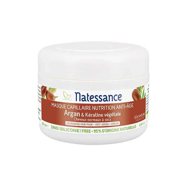 Natessance Masque Capillaire Nutrition Anti-Âge Argan & Kératine Végétale 200ml