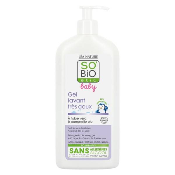 So'Bio Étic Baby Gel Lavant Très Doux Bio 500ml