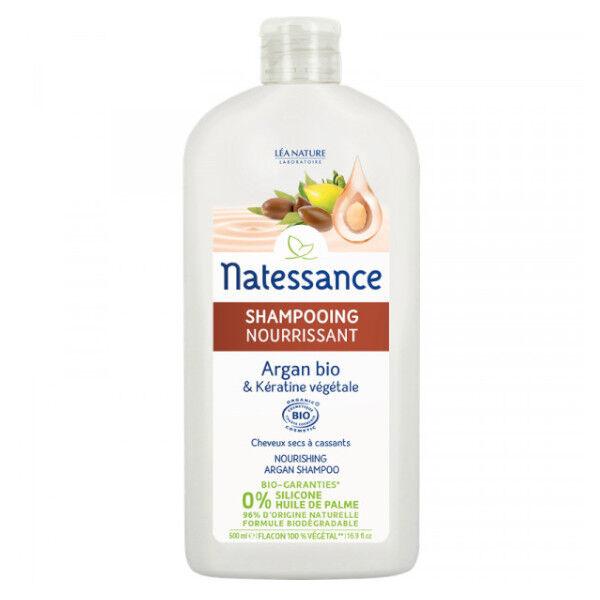 Natessance Shampooing Nourrissant Argan Bio et Kératine Végétale 500ml