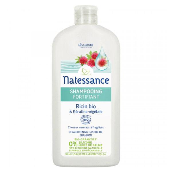 Natessance Shampooing Fortifiant Ricin Bio et Kératine Végétale 500ml