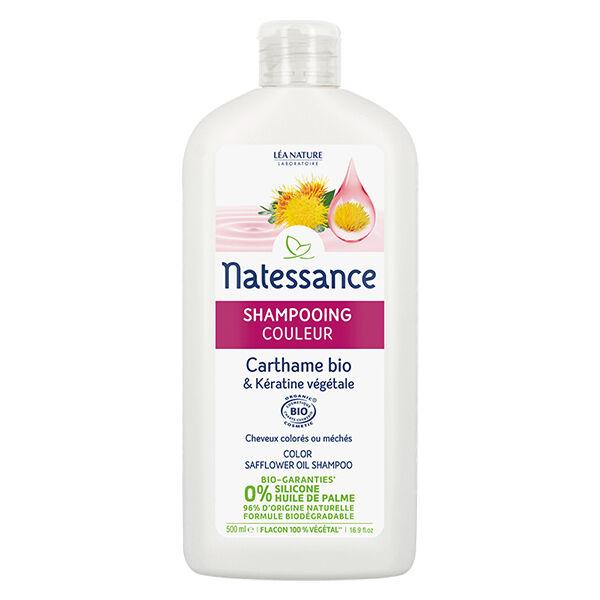 Natessance Shampooing Couleur Carthame & Kératine Bio 500ml