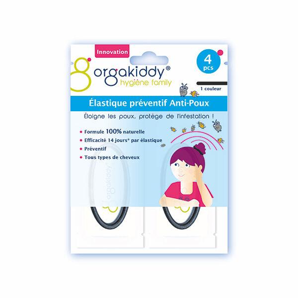 Orgakiddy Elastique Anti-poux 4 élastiques