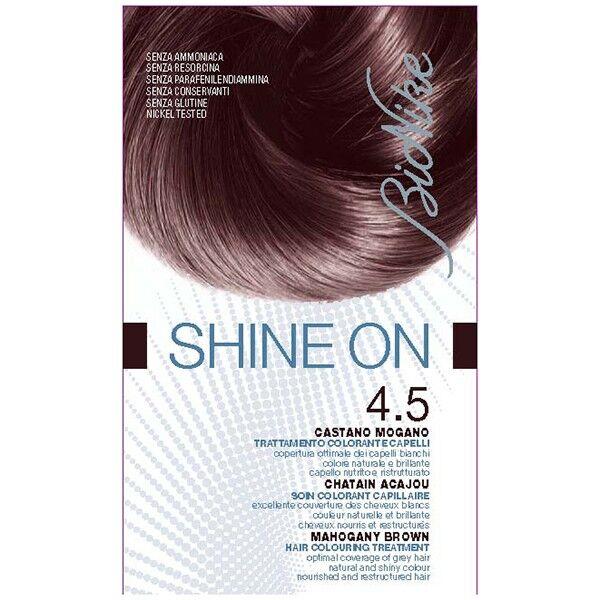 Bionike Shine On Coloration Cheveux Permanente Haute Tolérance Chatain Acajou 4.5