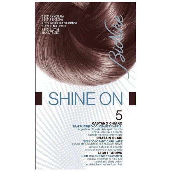 Bionike Shine On Coloration Cheveux Permanente Haute Tolérance Chatain Clair 5
