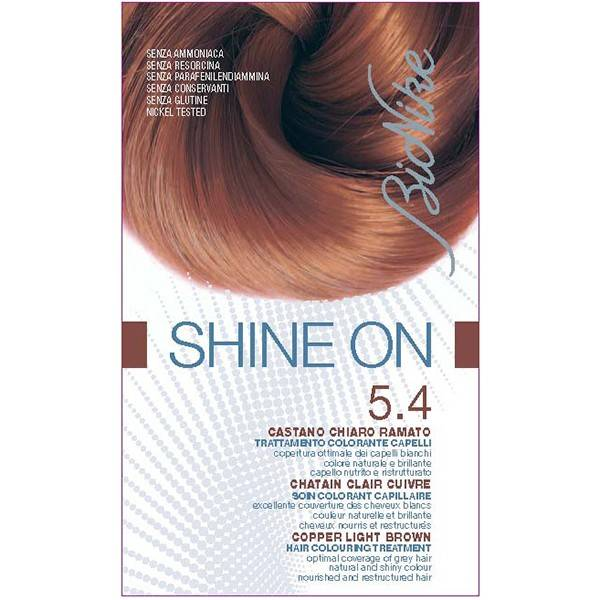 Bionike Shine On Coloration Cheveux Permanente HauteTolérance Chatain Clair Cuivré 5.4