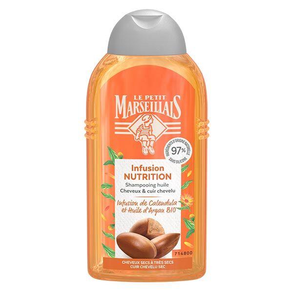 Le Petit Marseillais Shampooing Infusion Nutrition Calendula et Huile d'Argan Bio 250ml