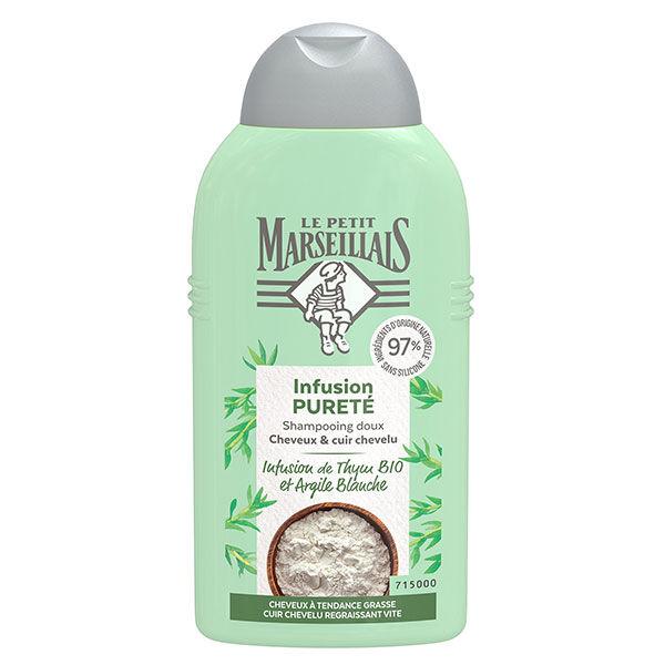 Le Petit Marseillais Shampooing Infusion Pureté Thym Bio et Argile Blanche 250ml