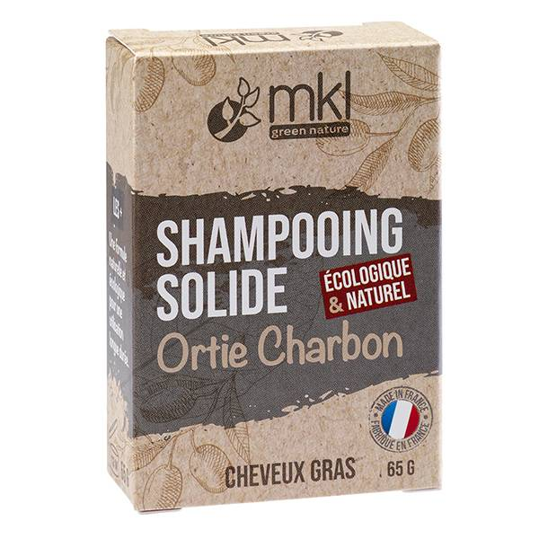 MKL Green Nature MKL Shampooing Solide Ortie et Charbon Cheveux Gras 65g