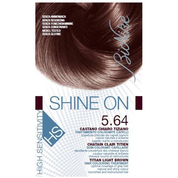 Bionike Shine On HS Coloration Cheveux Permanente Très Haute Tolérance Chatain Clair Titien 5.64