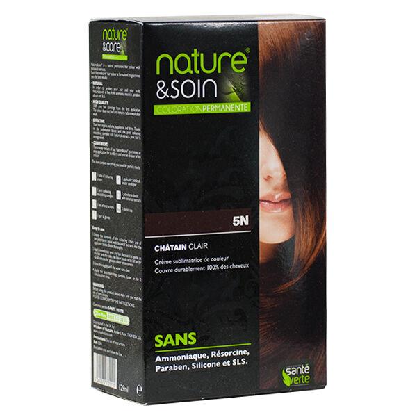 Santé Verte Nature & Soin Coloration Permanente Châtain Clair 5N