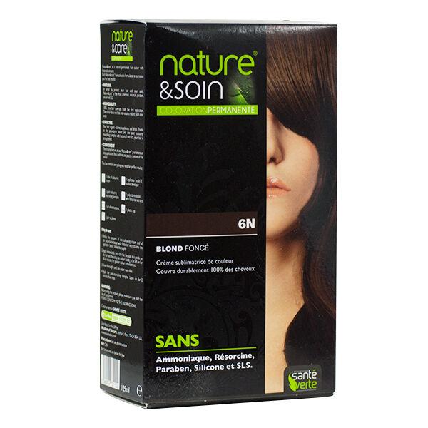 Santé Verte Nature & Soin Coloration Permanente Blond Foncé 6N