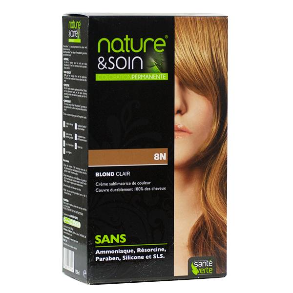 Santé Verte Nature & Soin Coloration Permanente Blond Clair 8N