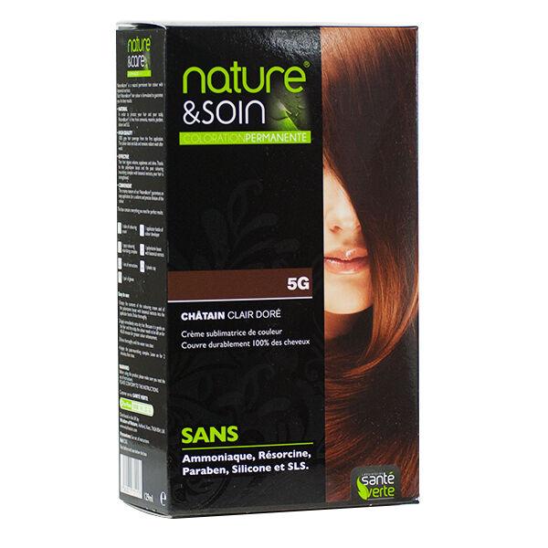 Santé Verte Nature & Soin Coloration Permanente Châtain Clair Doré 5g