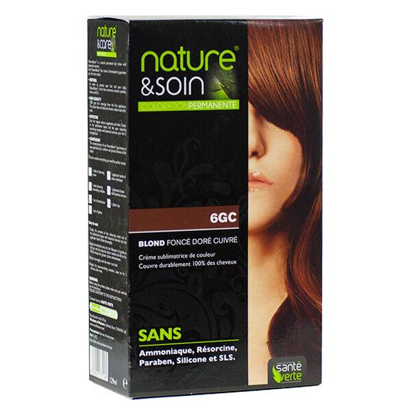 Santé Verte Nature & Soin Coloration Permanente Blond Foncé Doré Cuivré 6GC