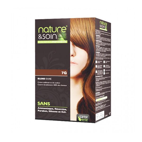 Santé Verte Nature & Soin Coloration Permanente Blond Doré 7g