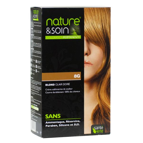 Santé Verte Nature & Soin Coloration Permanente Blond Clair Doré 8g