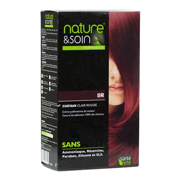 Santé Verte Nature & Soin Coloration Permanente Châtain Clair Rouge 5R