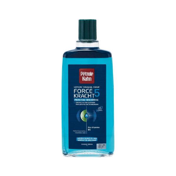 Petrole Hahn Bleu Lotion Tonique Force 5 Protection Cheveux Blancs ou Gris 300ml