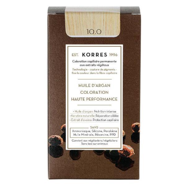 Korres Capillaire Coloration Permanente Blond Platine 10.0