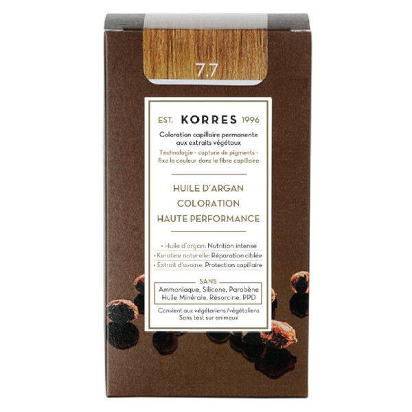Korres Capillaire Coloration Permanente Blond Marron 7.7