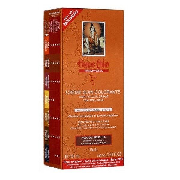 Henne Color Crème Soin Colorante Acajou Sensuel 100ml
