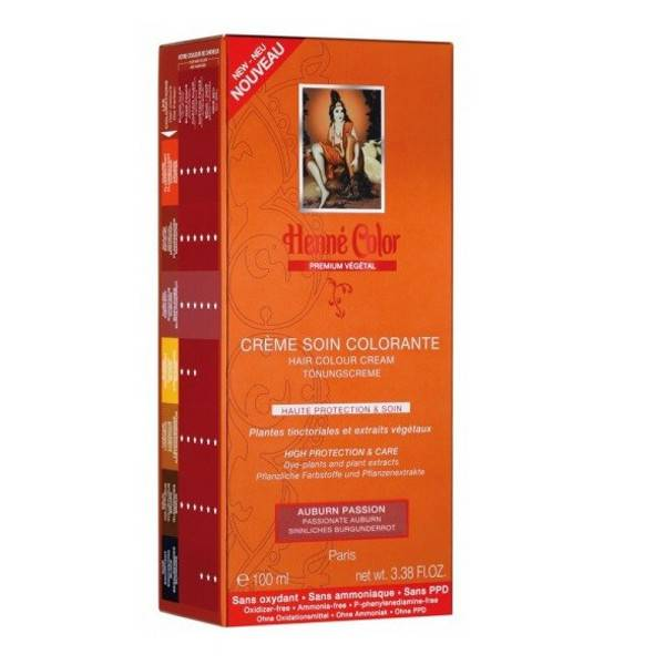 Henne Color Crème Soin Colorante Auburn Insolent 100ml