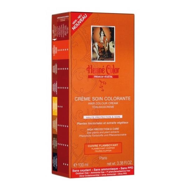 Henne Color Crème Soin Colorante Cuivre Flamboyant 100ml