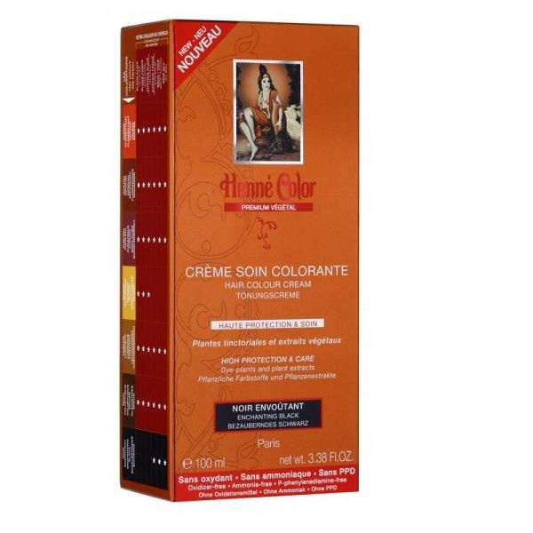Henne Color Crème Soin Colorante Noir Envoutant 100ml
