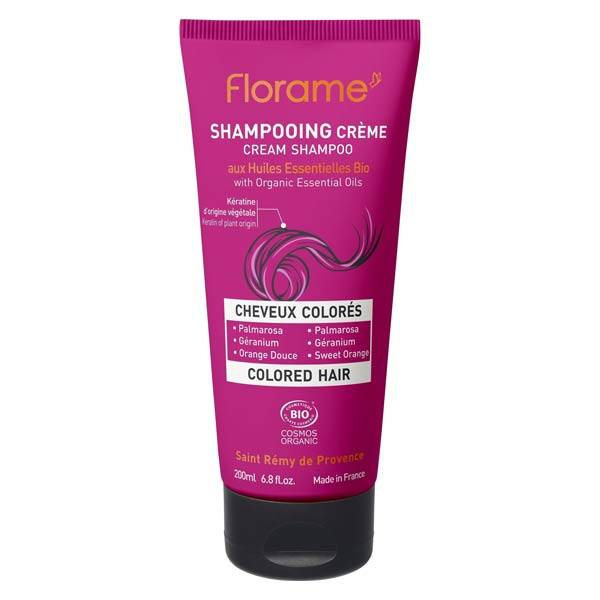 Florame Shampooing Crème Cheveux Colorés Bio 200ml