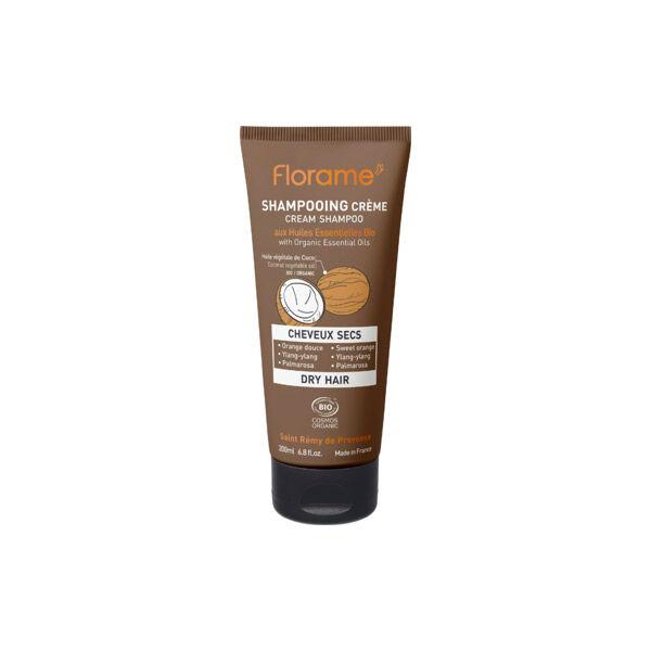 Florame Cheveux Shampooing Crème Cheveux Secs Bio 200ml