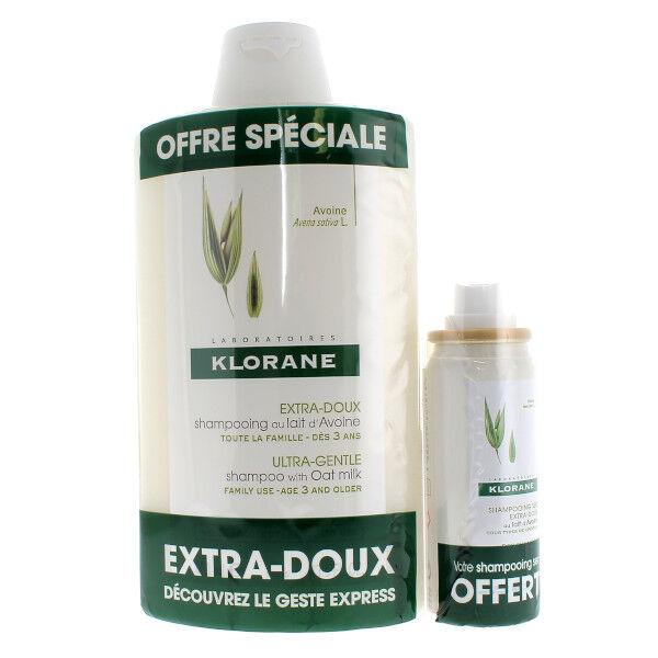 Klorane Shampooing au Lait d'Avoine 400ml + Shampooing Sec au Lait d'Avoine 50ml Offert