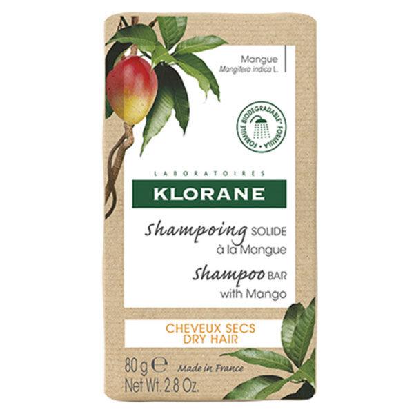Klorane Shampoing Solide Nutrition à la Mangue 80g
