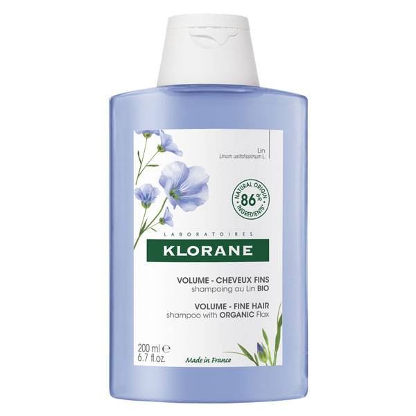 Klorane Lin Shampooing Volume Cheveux Fins Bio 200ml