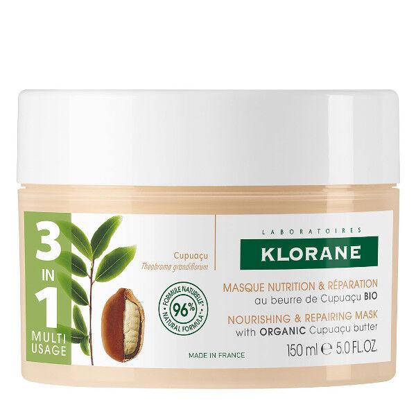 Klorane Masque Nutrition & Réparation 3 en 1 au Beurre de Cupuaçu Bio 150ml